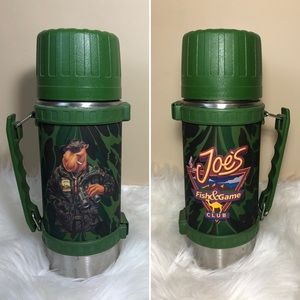 Vintage Thermos Joe's Fish & Game Camel Cigarettes